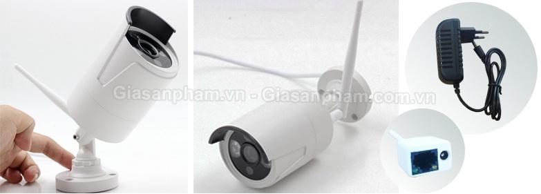 Camera IP Wifi trong Bộ kit camera Wifi 4 kênh GSP-W04